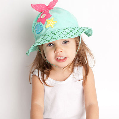 ZOOCCHINI UPF50+ Baby Sun Hat - Marietta the Mermaid-1