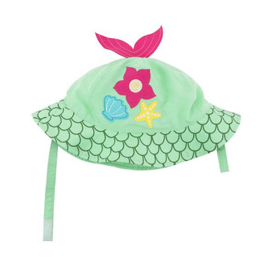 ZOOCCHINI UPF50+ Baby Sun Hat - Marietta the Mermaid-2
