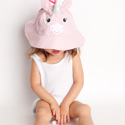 ZOOCCHINI UPF50+ Baby Sun Hat - Allie the Alicorn-1