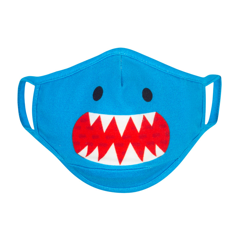 ZOOCCHINI Toddler/Kids 3 Piece Organic Reusable Face Masks Set - Shark Multi