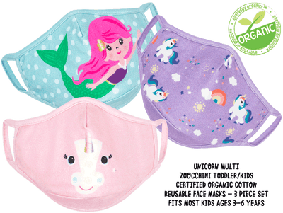 ZOOCCHINI Unicorn Multi Organic Face Masks Set  Edit alt text