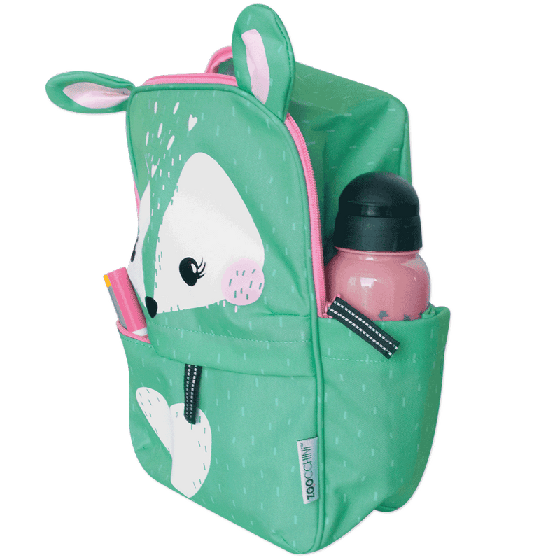 ZOOCCHINI Toddler/Kids Everyday Square Backpack - Fiona the Fawn