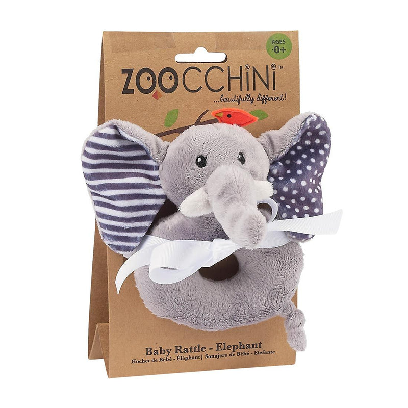 ZOOCCHINI Baby Buddy Rattle - Elle the Elephant-1