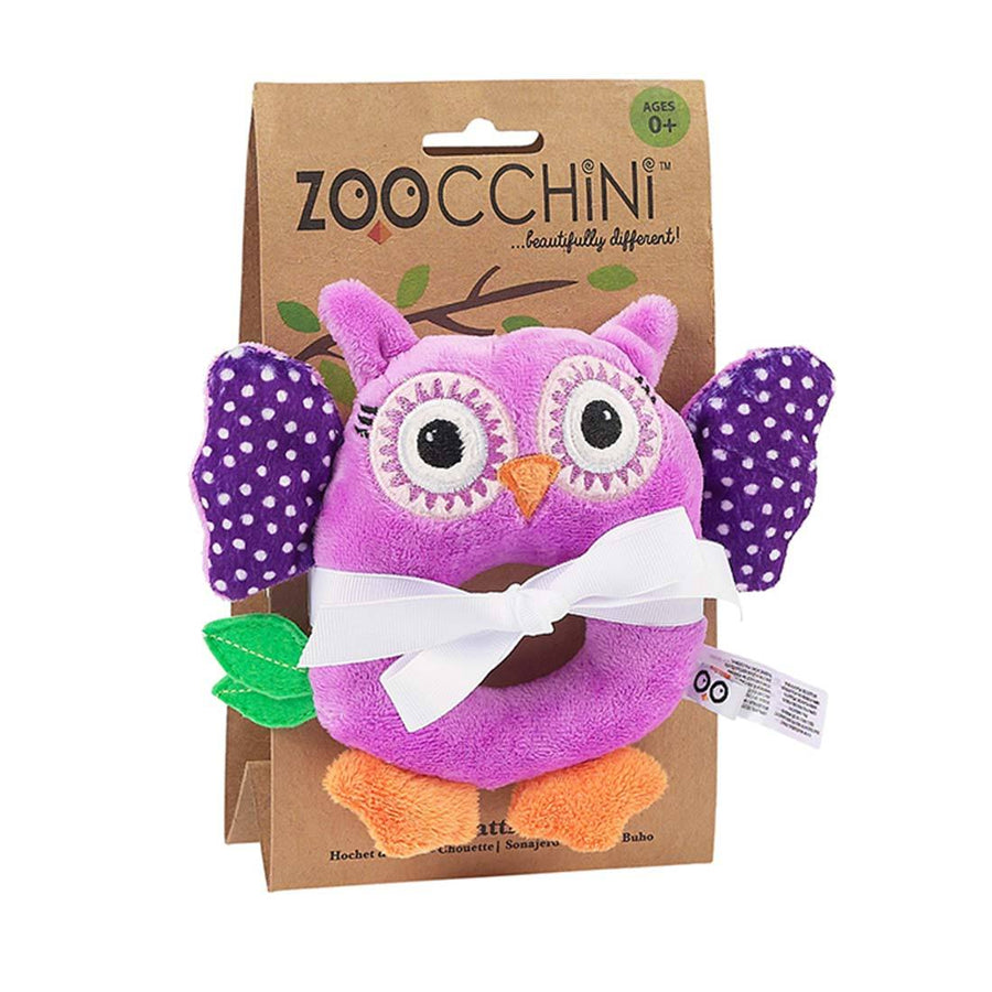 ZOOCCHINI Baby Buddy Rattle - Olive the Owl-1
