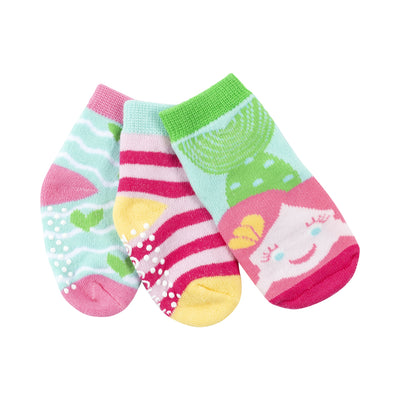 ZOOCCHINI 3 Piece Comfort Terry Socks Set - Marietta the Mermaid