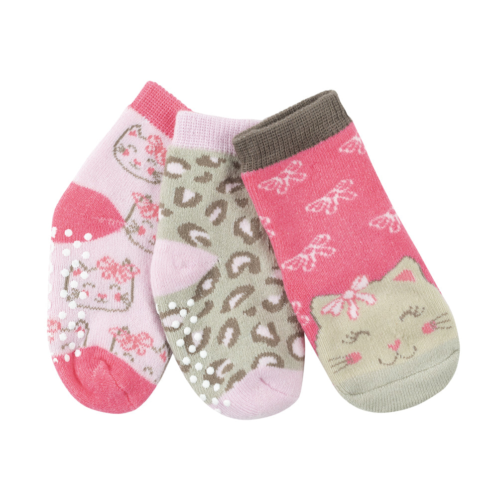 ZOOCCHINI 3 Piece Comfort Terry Socks Set - Kallie the Kitten