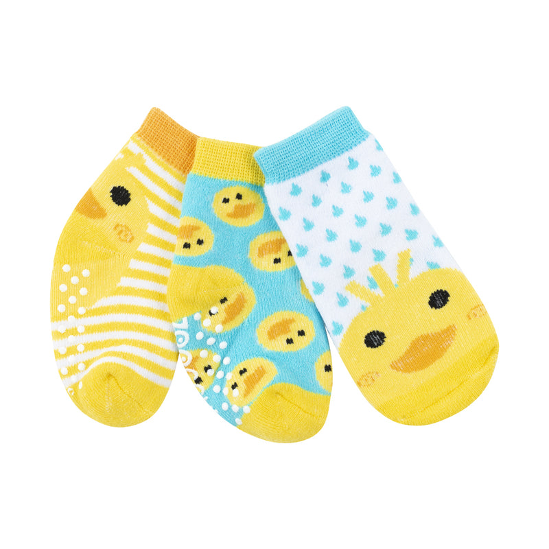 ZOOCCHINI 3 Piece Comfort Terry Socks Set - Puddles the Duck
