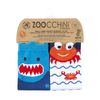 ZOOCCHINI Baby/Toddler 2 Pc Leg Warmer Set - Ocean Friends