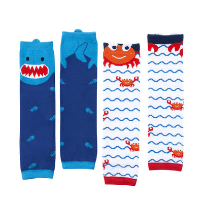 ZOOCCHINI Baby/Todder 2 Pc Leg Warmer Set - Ocean Friends