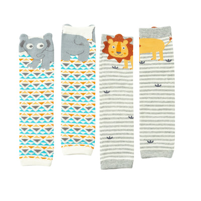 ZOOCCHINI Baby/Toddler 2 Pc Leg Warmer Set - Safari Friends