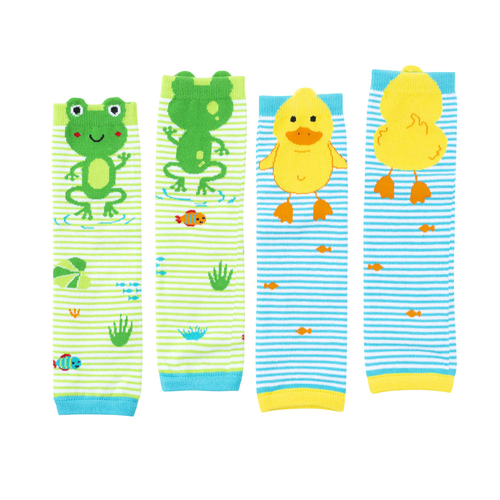 ZOOCCHINI Baby/Toddler 2 Pc Leg Warmer Set - Pond Pals