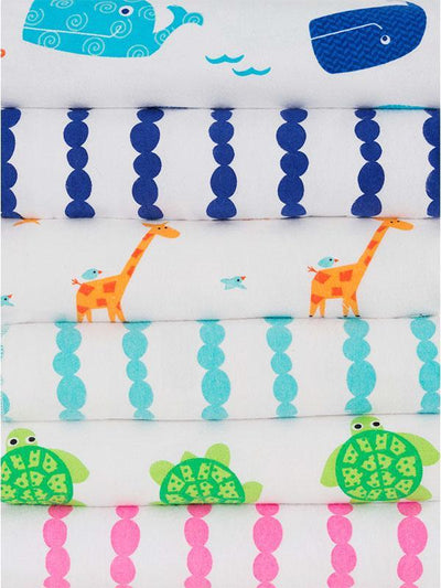 ZOOCCHINI 2 Pack 100% Cotton Candy Receiving Blankets - Tammy the Turtle-3