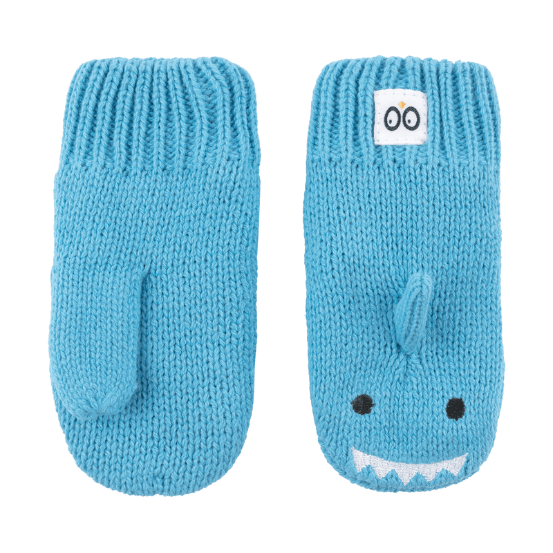 ZOOCCHINI Baby/Toddler Knit Mittens - Sherman the Shark