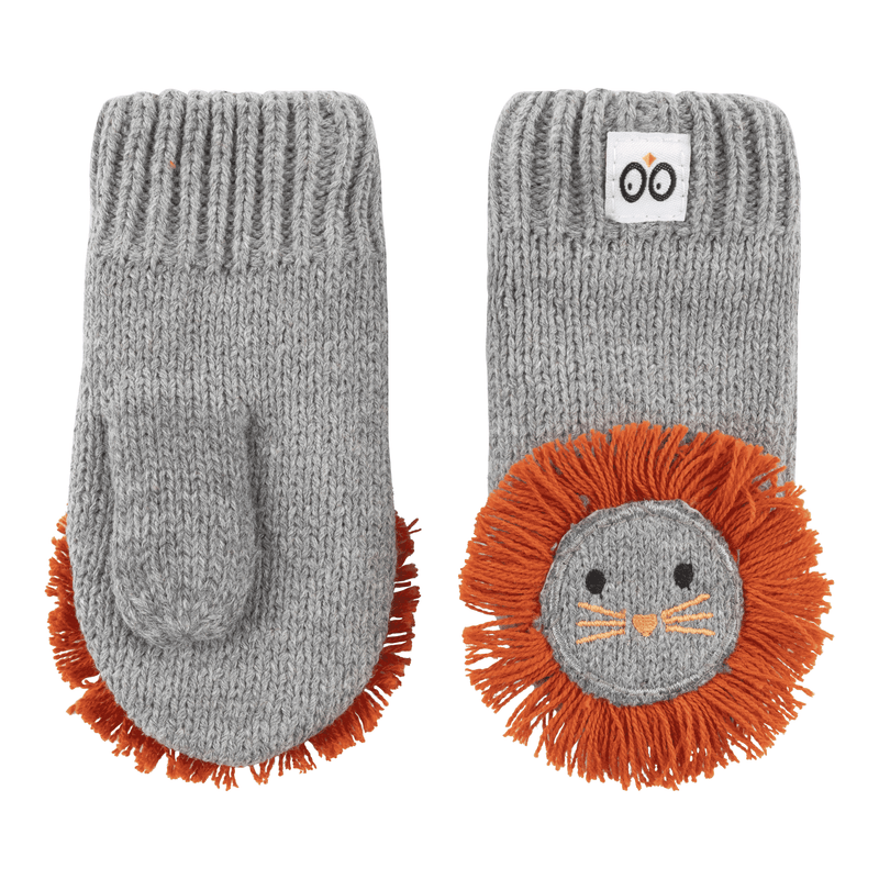 ZOOCCHINI Baby/Toddler Knit Mittens - Leo the Lion