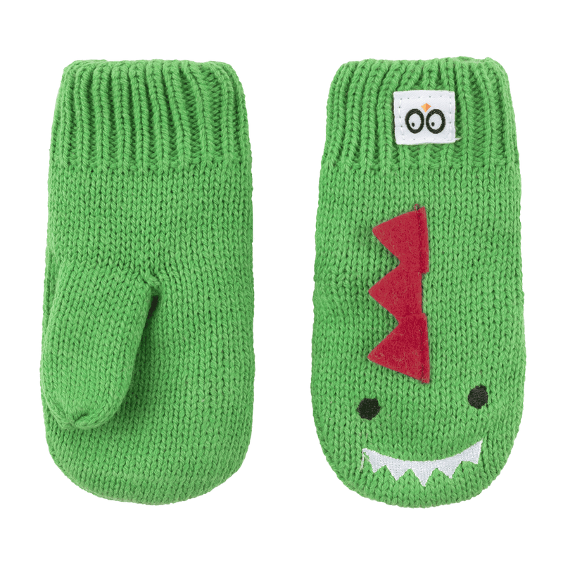 ZOOCCHINI Baby/Toddler Knit Mittens - Devin the Dinosaur