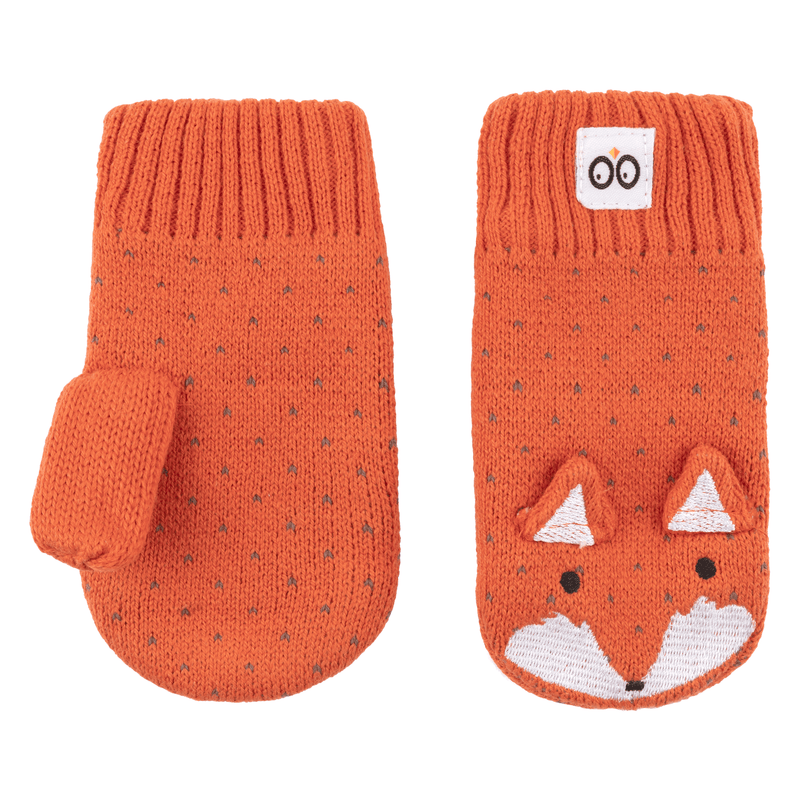 ZOOCCHINI Baby/Toddler Knit Mittens - Finley the Fox