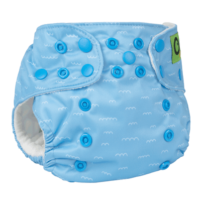 ZOOCCHINI Baby/Toddler One Size Reusable Pocket Diaper w/2 Inserts - Sherman the Shark