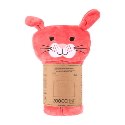 ZOOCCHINI Toddler/Kids Animal Hooded Blanket - Bella the Bunny