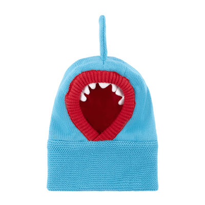 ZOOCCHINI Baby/Toddler Knit Balaclava Hat - Sherman the Shark