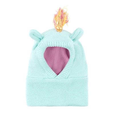 ZOOCCHINI Baby/Toddler Knit Balaclava Hat - Allie the Alicorn