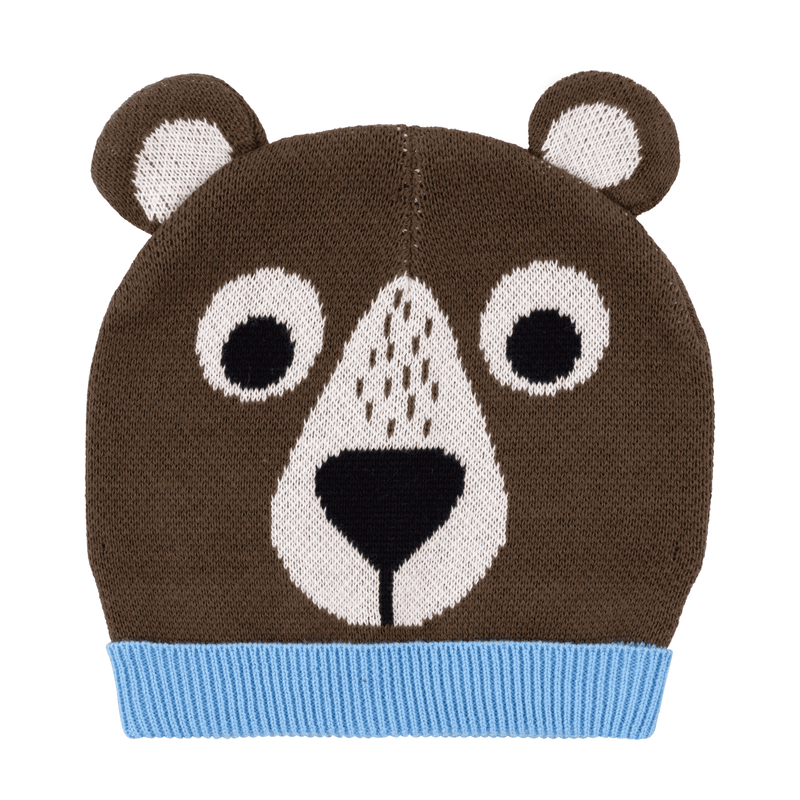 ZOOCCHINI Toddler/Kids Winter Beanie Hat and Gloves Set - Bosley the Bear