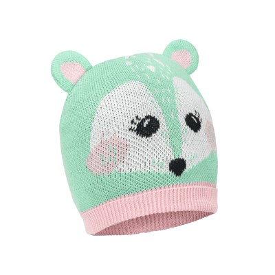ZOOCCHINI Toddler/Kids Winter Beanie Hat and Gloves Set - Fiona the Fawn