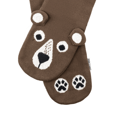 ZOOCCHINI Toddler/Kids Winter Knit Scarf - Bosley the Bear