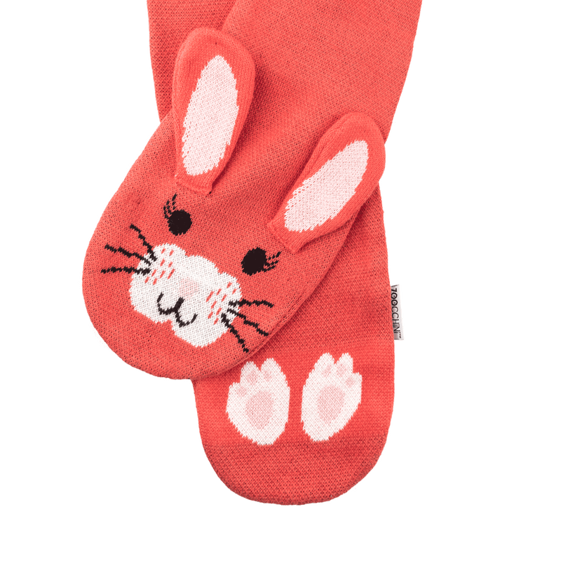 ZOOCCHINI Toddler/Kids Winter Knit Scarf - Bella the Bunny
