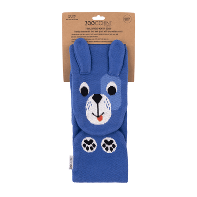 ZOOCCHINI Toddler/Kids Winter Knit Scarf - Duffy the Dog