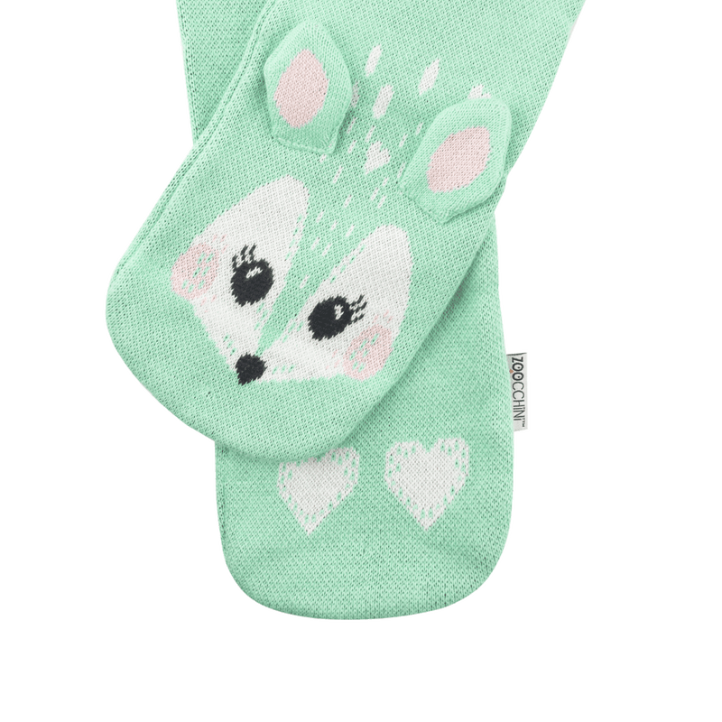 ZOOCCHINI Toddler/Kids Winter Knit Scarf - Fiona the Fawn
