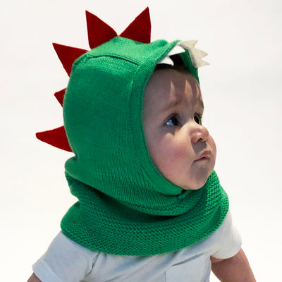 ZOOCCHINI Baby/Toddler Knit Balaclava Hat - Devin the Dinosaur