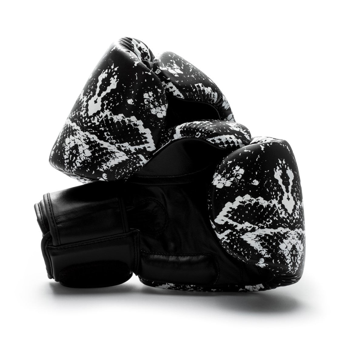 UNIT NINE Black Python Boxing Gloves 2