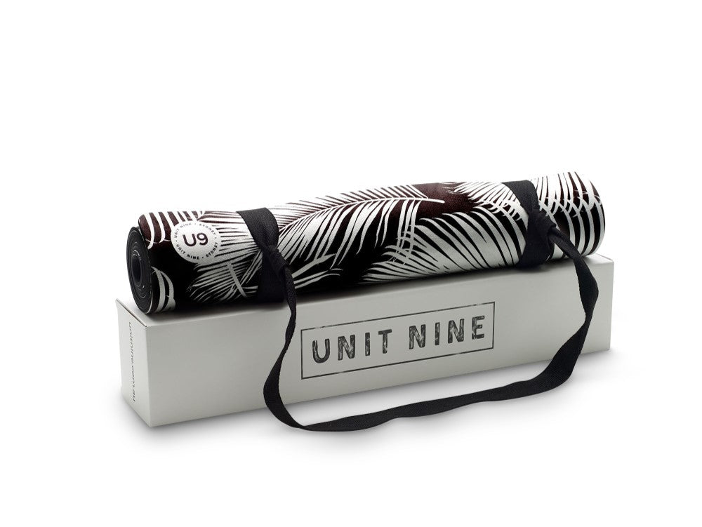 UNIT NINE Black Fern Yoga Mat