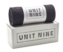 UNIT NINE Black Yoga Towel