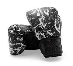 UNIT NINE Black Python Boxing Gloves