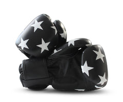 UNIT NINE Black Shooting Stars Boxing Gloves 2