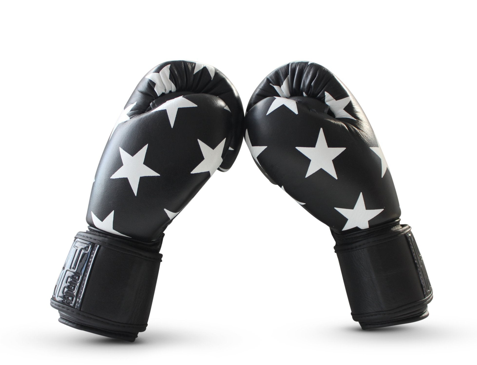 UNIT NINE Black Shooting Stars Boxing Gloves 3