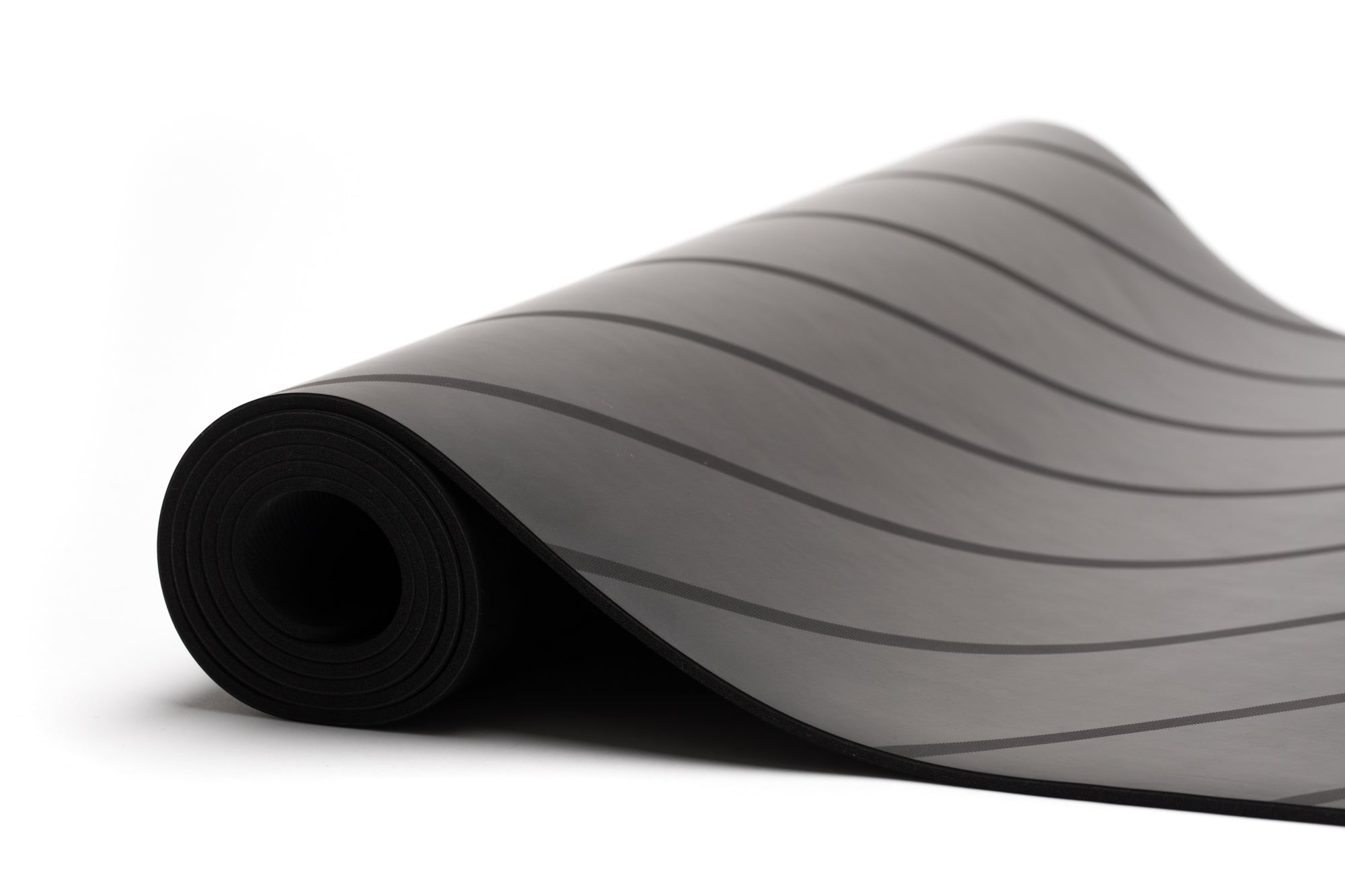 UNIT NINE Charcoal Stripe Rubber Yoga Mat & ADD YOUR INITIALS 2
