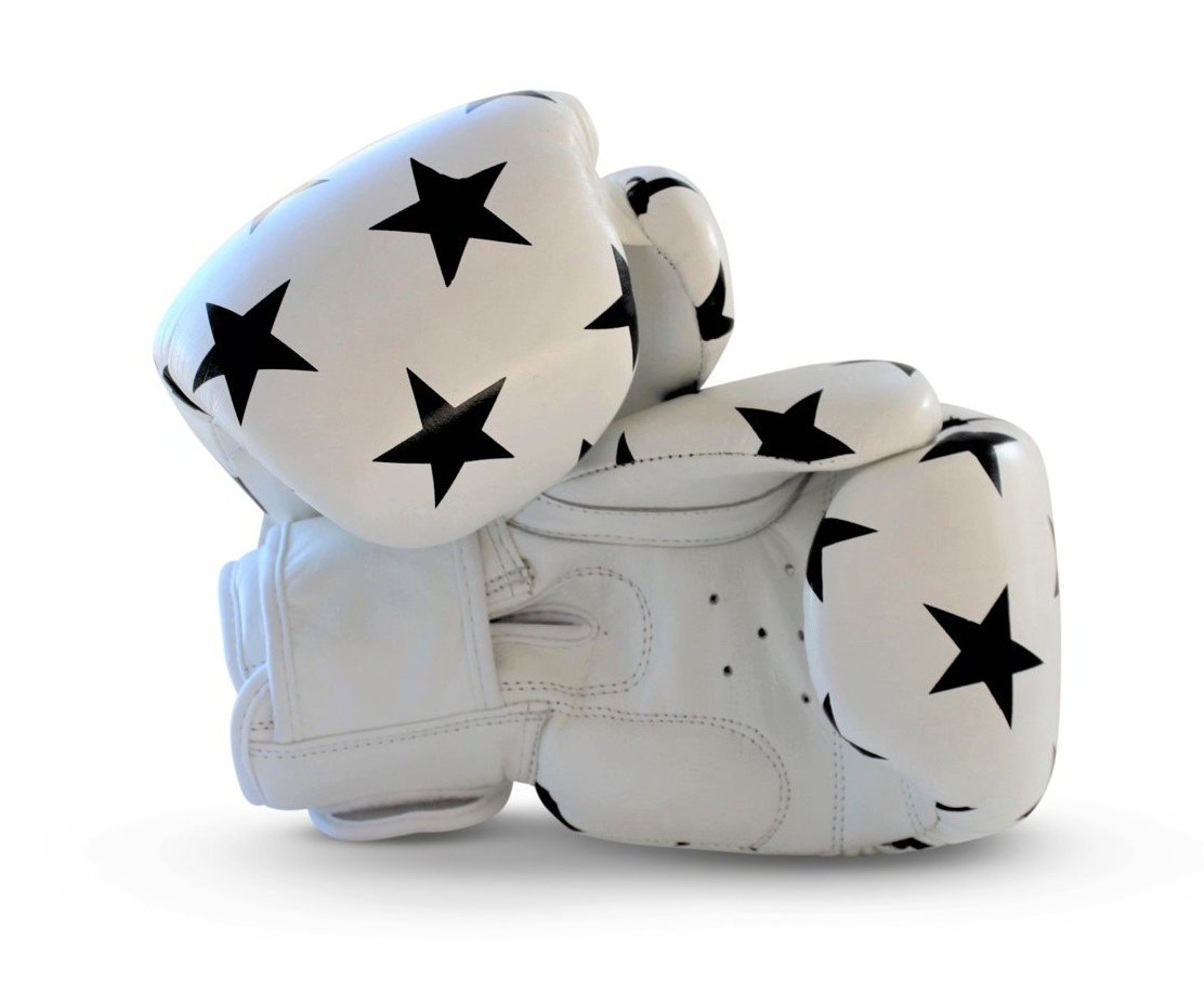 UNIT NINE White Shooting Stars Boxing Gloves 2