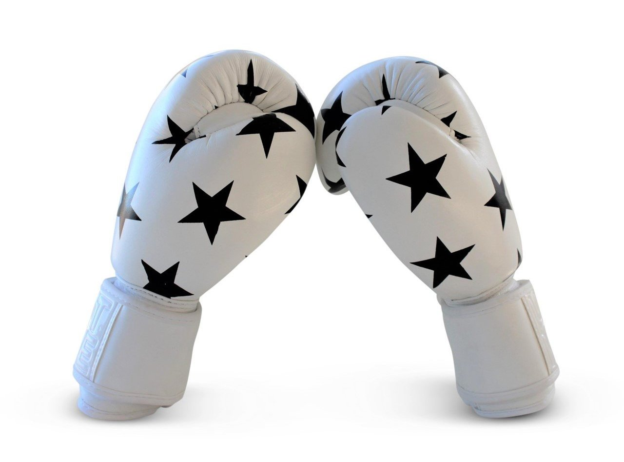 UNIT NINE White Shooting Stars Boxing Gloves 3