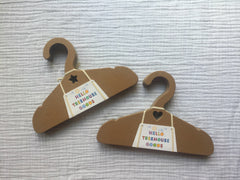 Recycled children's hanger, eco friendly, earth friendly