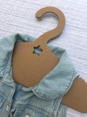 Recycled hanger, star design, baby and kids clothes hanger