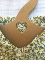 heart hanger, children's eco friendly hanger, recycled baby clothes hanger