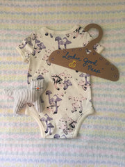 paperboard baby hanger, made in the USA, custom design, baby shower craft
