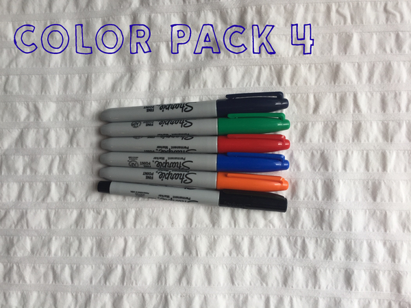 marker pack 4, baby shower decorating kit, set of 5 sharpies, customize your baby hanger, kids hanger, eco baby, eco mama
