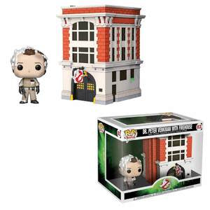 Funko Pop! Town: Dr Peter Venkman with Firehouse