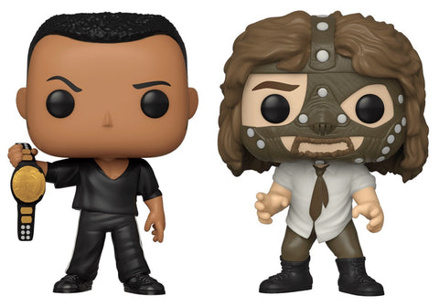 Funko Pop WWE - The Rock And Mankind (2-Pack) (Walmart)