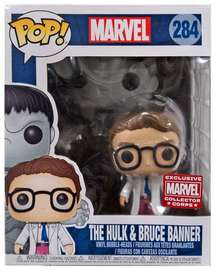 Funko Pop Marvel: The Hulk & Bruce Banner (Marvel Collector Corps)