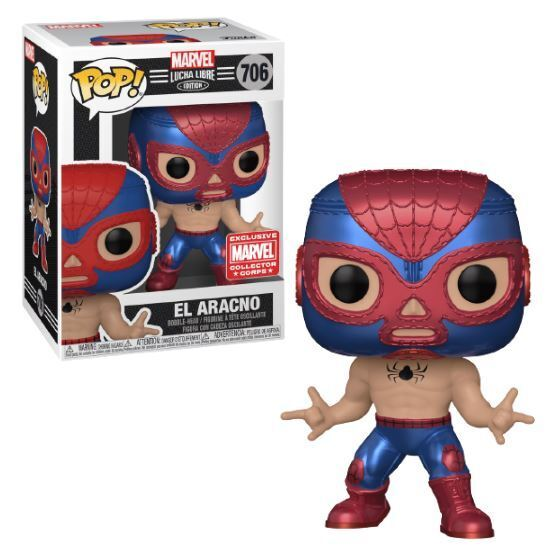 Funko Pop! Marvel: Lucha Libre - El Aracno (Marvel Collector Corps)
