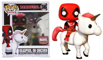 Funko Pop Marvel: Deadpool Rides - Deadpool On Unicorn (Marvel Collector Corps)